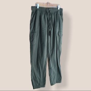 Woman Within army green cotton pants size 16W